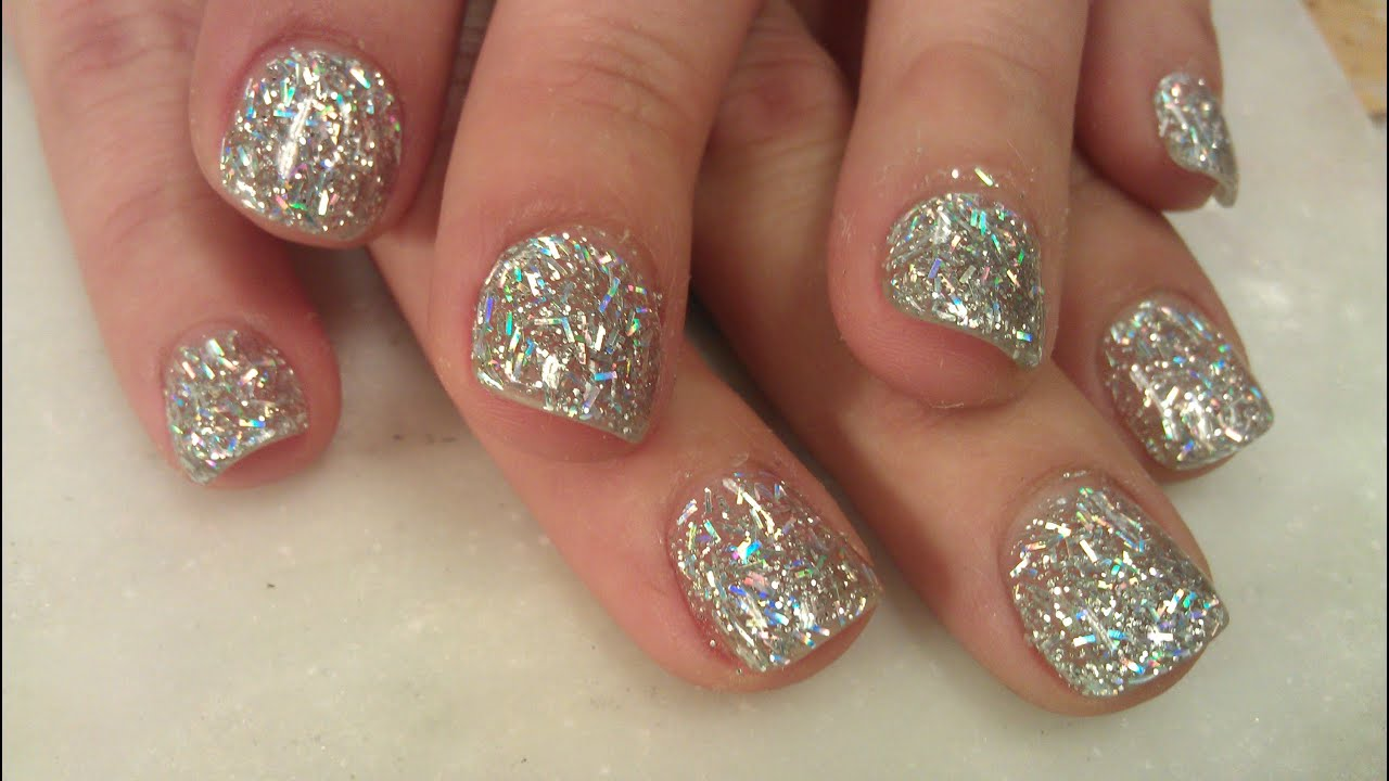 GLITTER NAILS ON SHORT NAILS OVERLAY 2 of 2
