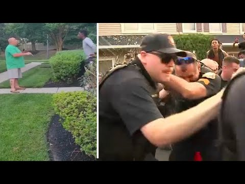 Man caught on video during racist rant in New Jersey taken into police custody