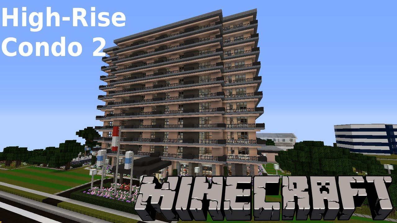 minecraft highrise condo building 2 suburbcraft ep103