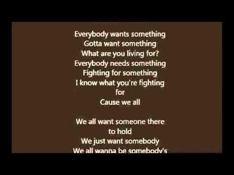 somebody wants to love you lyrics