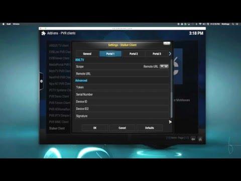 Stalker PVR Setup for iptv cod123biz portal