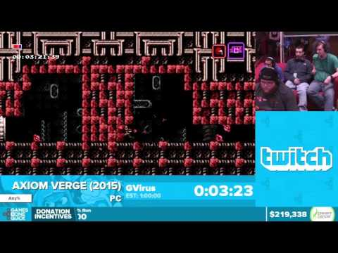 Axiom Verge by GVirus in 58:05:47 - Awesome Games Done Quick 2016 - Part 33