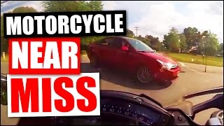 Motorcycle near miss and close calls compilation September 2016 - almost crashes & accidents