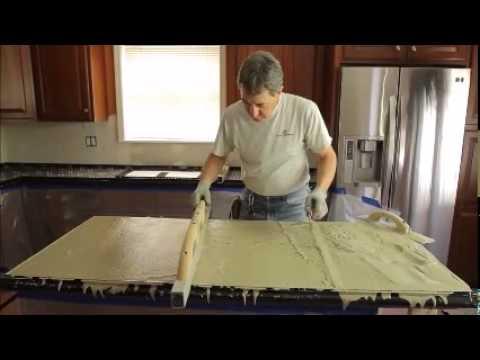 Concrete Countertop Pouring Youtube