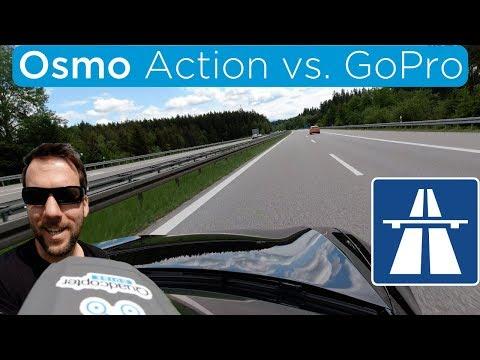 Osmo Action vs. GoPro Hero 7 - Tesla Model S & AUTOBAHN! [4K]