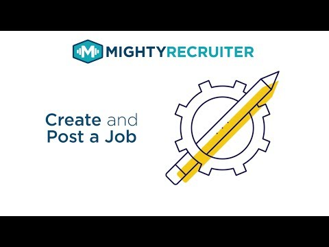 Job Postings: How to Create and Post a Job on Job Boards using MightyRecruiter