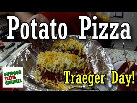 Potato Pizza, on the Traeger Grill   Traeger Grill Day   #traegergrill #recipe