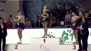 Victory Ceremony -  Ladies Free skating - ISU JGP 2017
