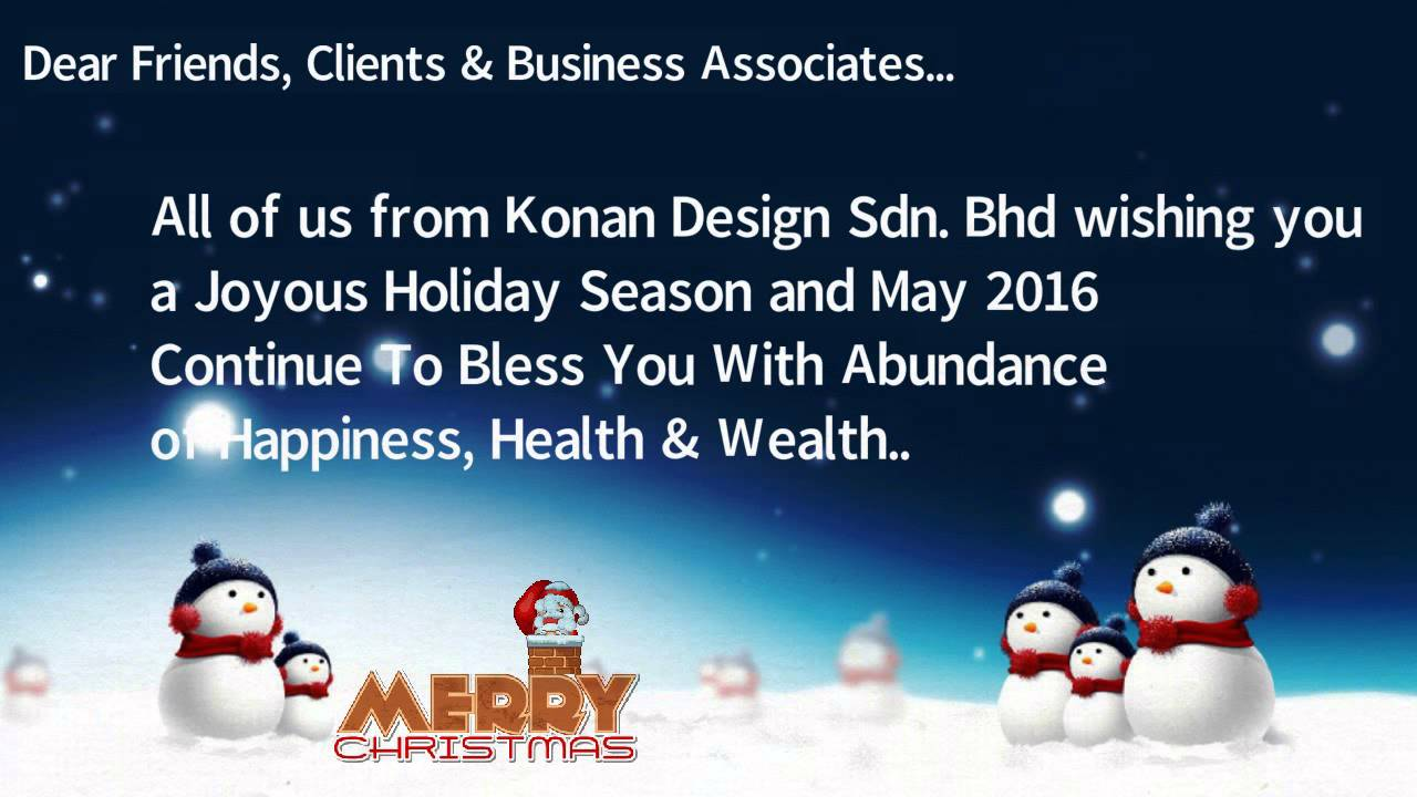 Christmas New Year Greetings From Konan Design Sdn Bhd Youtube