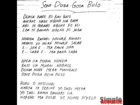 Simple Acoustic - Sone Duga Gosa Bulo