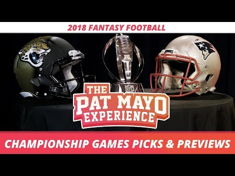 2018 Fantasy Football - NFL Championship Weekend Picks, Game
