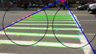 Crosswalk Recognition in OpenCV