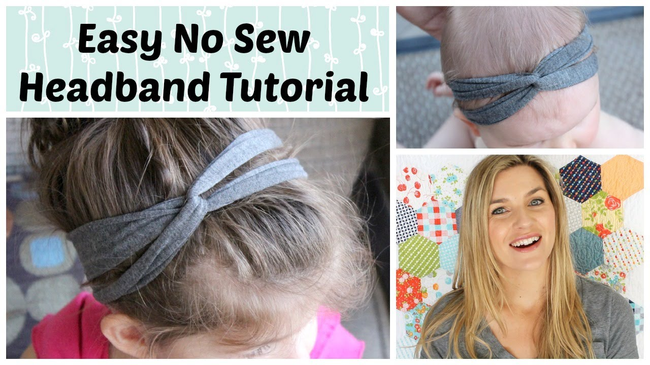 easy no sew headband - youtube
