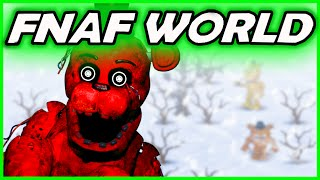 REDBEAR'S SECRET ADVENTURE... - FNAF WORLD Simulator -  (Five Nights at Freddy's World Gameplay)