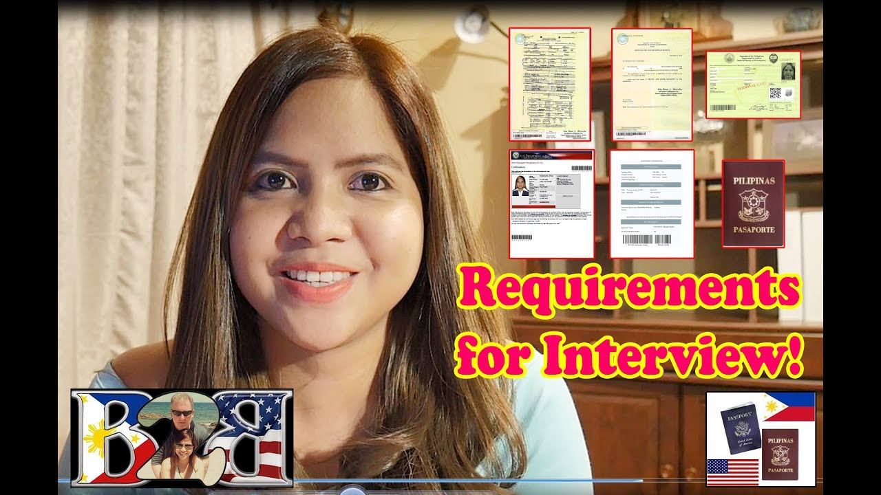 K1 Visa List of Requirements to Bring in the US Embassy Interview!