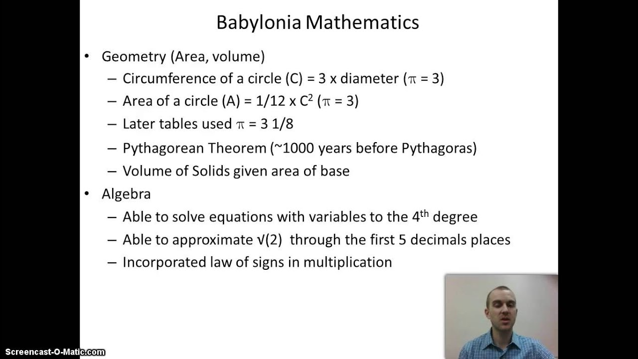 chapter 2 mesopotamian math youtube