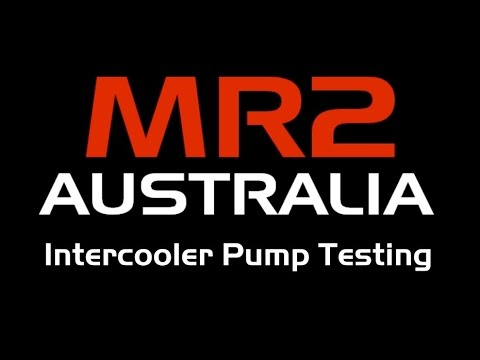 Water to Air (W2A) Intercooler Pump Testing