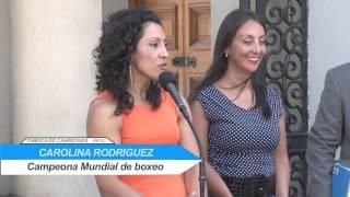 """Carolina """"crespita"""" Rodríguez fue recibida por el Presidente de la República"""