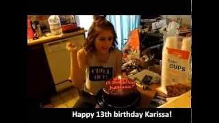 Happy 13th Birthday Karissa!