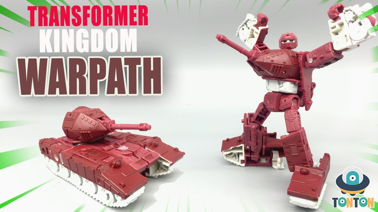 First Look Transformers Kingdom Warpath Deluxe Class In-Hand Review