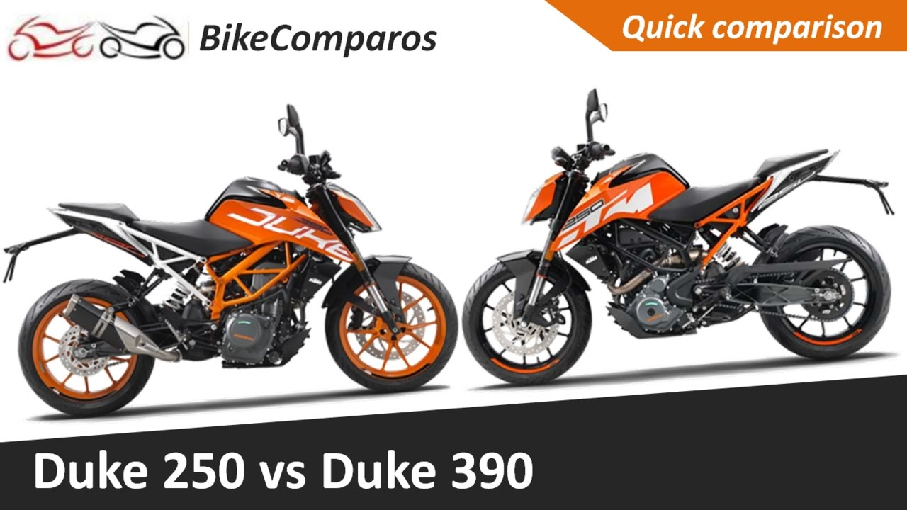 duke 250 vs duke 390 2017 comparison review - youtube