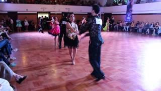Carlos Cruzat y Tamara Muñoz en el Sudamericano de baile deportivo 2014