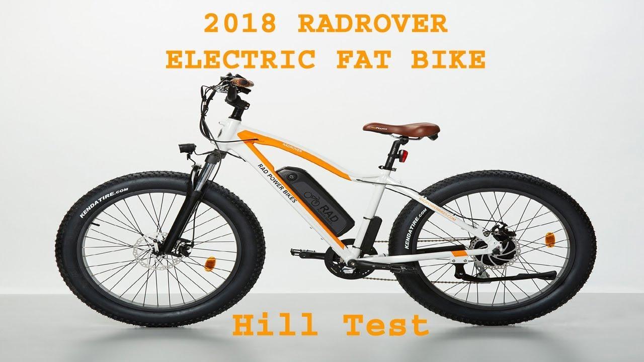 2018 radrover electric fat rad power bike 04 hill test youtube. Black Bedroom Furniture Sets. Home Design Ideas