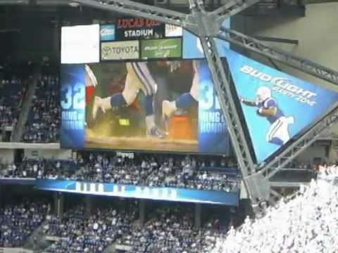 Edgerrin James  Colts Ring of Honor Induction HalfTime Colts vs Jaguars 9/23/2012