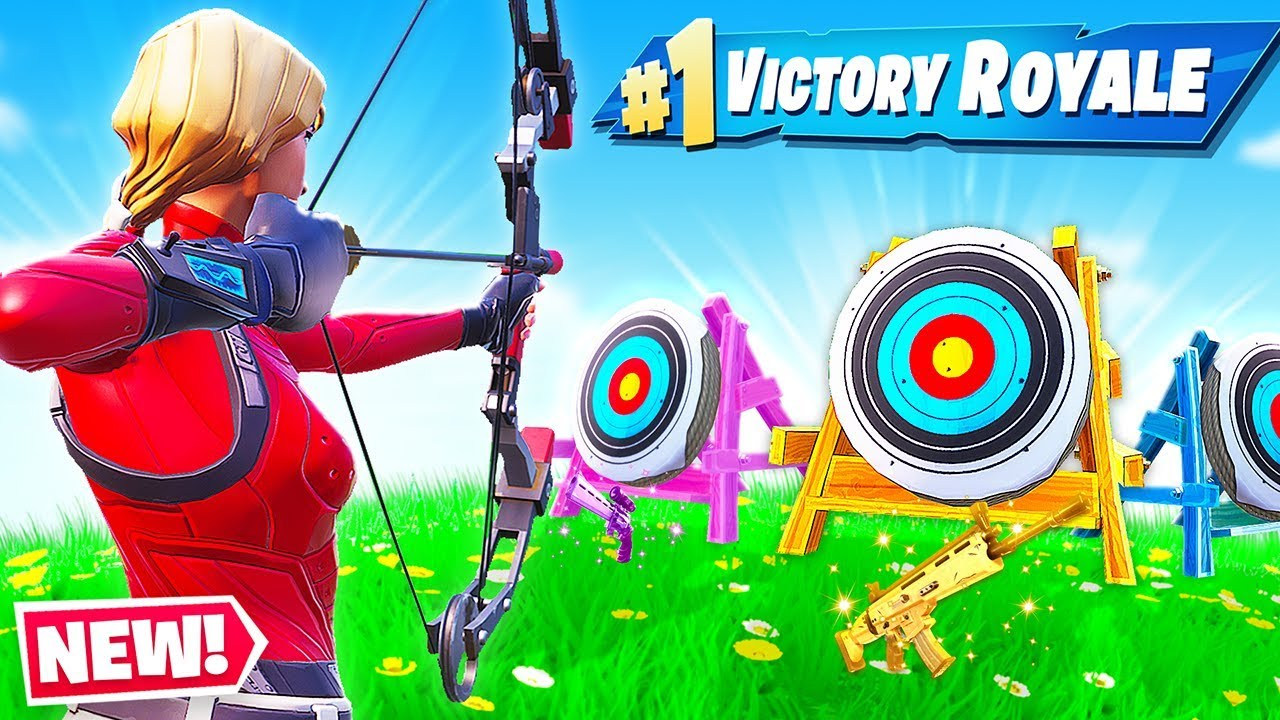boom bow shooting gallery new game mode in fortnite battle royale - fortnite boom bow