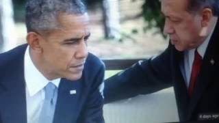 Obama Body Language after being Snubbed in China and forced to exit