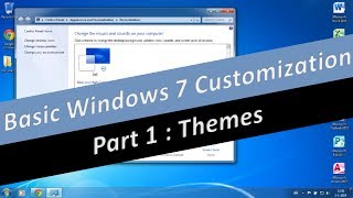 How to change and install a Theme in Windows 7 (part 1)