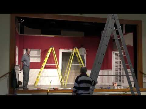Theydon Bois Drama Blithe Spirit set build time lapse
