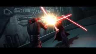 STAR WARS CLONE WARS Sidious vs. Maul.
