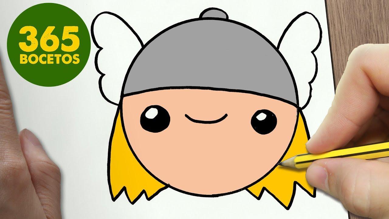 Como Dibujar Thor Emoticonos Whatsapp Kawaii Paso A Paso Dibujos
