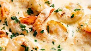 Creamy Garlic Prawns (Shrimp)