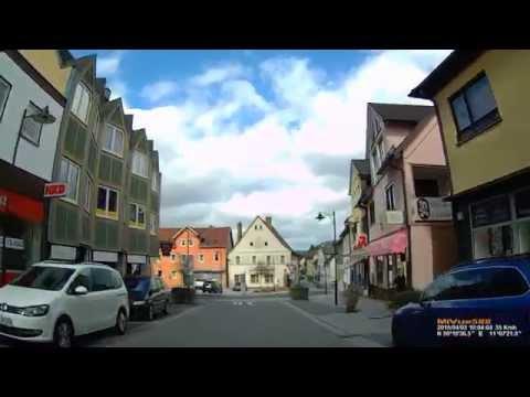 D: Stadt Neustadt b. Coburg. Landkreis Coburg. Fahrt durch die Stadt. April 2015