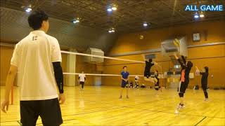 All#44-1スパイク,ゲームダイジェスト【男女混合バレーボール】 Men and Women Mixed Volleyball JAPAN TOKYO