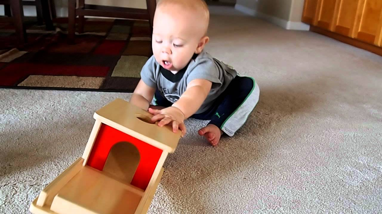 Montessori Object Permanence Box With Tray And 9 Months