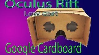 CARDBOARD GOOGLE - Las Oculus Rift Low Cost
