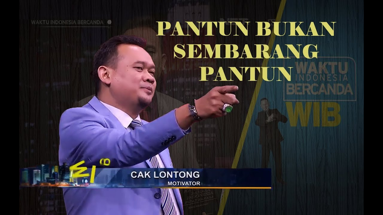 Waktu Indonesia Bercanda CAK LONTONG PANTUN DI WIB YouTube