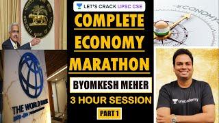 Complete Economy for PRELIMS 2020 (Part 1) | Marathon Session | UPSC CSE 2020/2021 | Byomkesh Meher