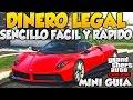 GTA V ONLINE DINERO LEGAL FACIL Y RAPIDO MINI GUIA Y CONSEJOS PARA GTA 5 ONLINE