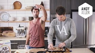 Ben's Toasted Granola W Steamed Apples & Rhubarb | #doublethegoodness With Andy & Ben