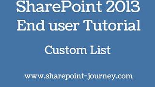 SharePoint 2013: Create custom List | SharePoint-Journey.com