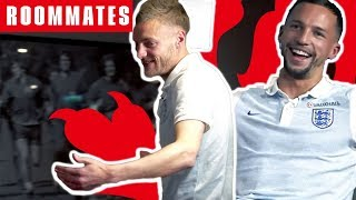 Vardy v Drinkwater | Vardy STORMS off! | Roommates | England