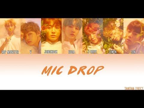 [FIXED VER IN DESCRIPTION] Mic Drop - BTS Lyrics [Han,Rom,Eng] {Member Coded}