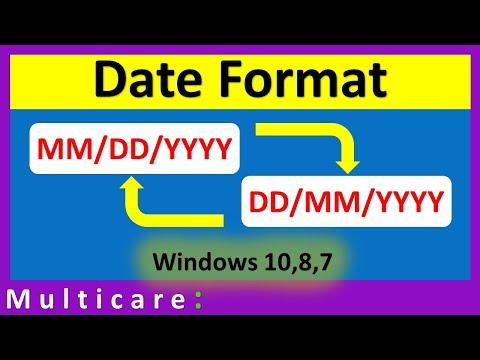 How To Change Date Format In Windows 10 | Dd/mm/yyyy Format
