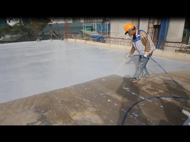 Cách thi công chống thấm sàn mái siêu tốc hiệu quả  bằng polyurethane