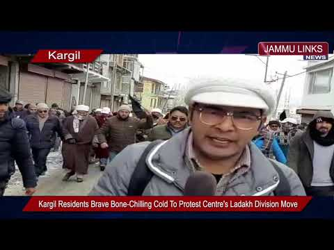Kargil Residents Brave Bone-Chilling Cold To Protest Centre's Ladakh Division Move Mp3
