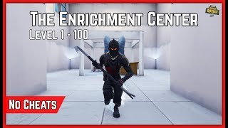 How To NO CHEAT The Enrichment Center Featured Map By NotNellaf! Fortnite Creative Maze Escape